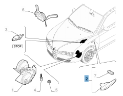Zijdelingse richtingaanwijzer rechts voor Alfa Romeo