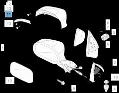 Zijdelingse richtingaanwijzer links voor Fiat Professional Strada