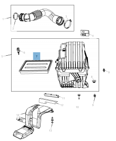 Luchtfilter motor voor Fiat Freemont