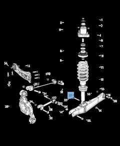 Achterste schokdemper 2 stuks voor Lancia Flavia