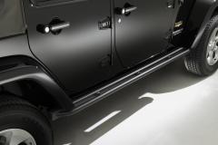 Zwarte klaptreden, opstaptreden aan de zijkant onder portier voor Jeep Wrangler
