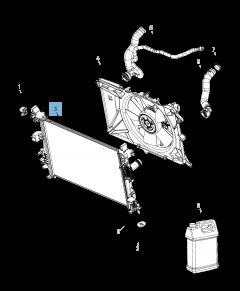 Radiateur motorkoelsysteem voor Jeep Compass