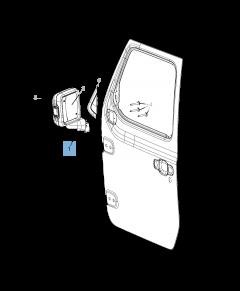 Buitenspiegel voor Jeep Wrangler