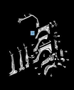 Achterspatbord voor Jeep Wrangler