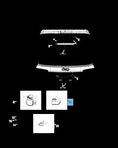 Lamp rechts achterklep voor Jeep Compass