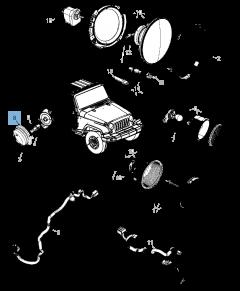 Zijdelingse richtingaanwijzer voor Jeep Wrangler