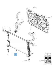 Radiateur motorkoelsysteem voor Jeep Cherokee