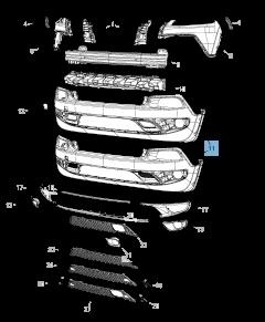 Onderste voorbumper voor Jeep Cherokee