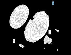 Set koppeling (koppelingsplaat en drukplaat) voor Alfa Romeo 159