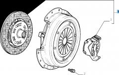 Set koppeling (koppelingsplaat, drukplaat en druklager) voor Fiat Idea