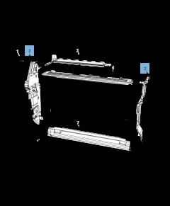 Aan zijkant geplaatste radiateur motorkoelsysteem voor Jeep Compass