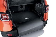 Tweezijdige vloermat voor bagageruimte met beschermingsstrook