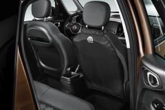 Zwarte hoes voor achterstoelen voor Fiat en Fiat Professional