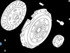 Set koppeling (koppelingsplaat, drukplaat en druklager) voor Fiat Professional Ducato