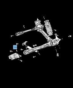 Achterste schokdemper 2 stuks voor Lancia Voyager
