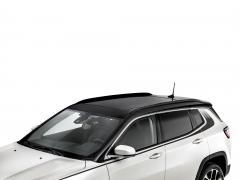 Glanzend zwarte lengterails voor autodak voor Jeep Compass
