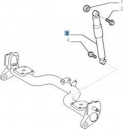 Achterste schokdemper voor Fiat Professional Doblo