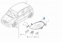 Rechter voorlicht voor Lancia Musa