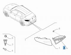 Beweegbaar linker achterlicht voor Alfa Romeo Stelvio