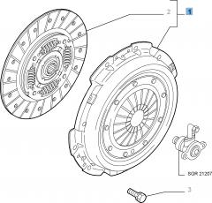 Set koppeling (koppelingsplaat en drukplaat) voor Alfa Romeo