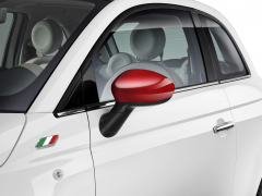 Spiegelkappen glanzend rood voor Fiat 500