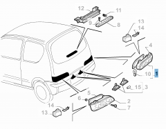 Rechter achterlicht voor Fiat en Fiat Professional
