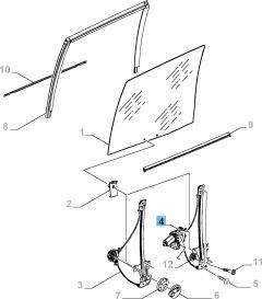Elektrische raamopener, geschikt voor schuifdeur zijkant rechts