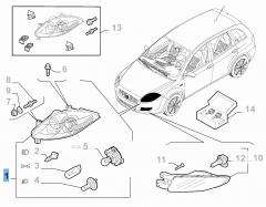 Koplamp linksvoor voor Fiat Croma