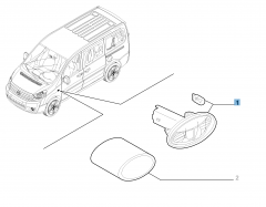 Zijdelingse richtingaanwijzer voor Fiat Professional Scudo