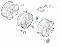 Lichtmetalen velg 6.5J x 17'' ET 41 voor Fiat Linea
