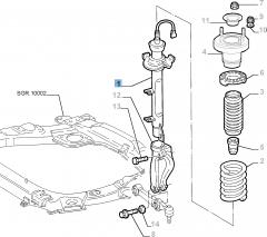 Schokdemper linksvoor voor Lancia Thesis