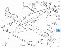 Achterste schokdemper HEAVY MINIBUS 2 stuks voor Fiat en Fiat Professional