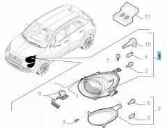 Rechter voorlicht voor Fiat 500X