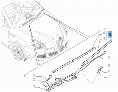Kit 2 ruitenwissers voor voorruit voor Alfa Romeo Giulietta