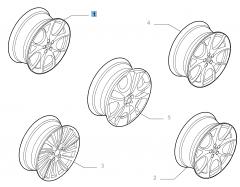 Lichtmetalen velg 7J x 17'' ET 40.5 voor Alfa Romeo 147
