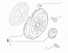 Set koppeling (koppelingsplaat en druklager) voor Fiat Professional Ducato