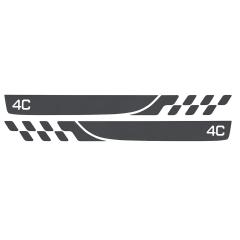 Stickers op dorpel voor Alfa Romeo 4C