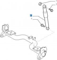Achterste schokdemper voor Fiat Doblo