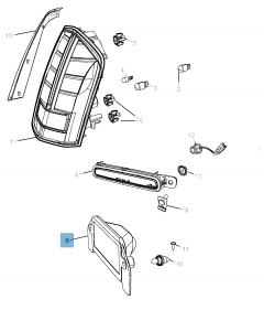 Kentekenplaatverlichting voor Lancia Thema