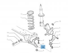 Linker schommelarm voor Fiat Professional Ducato