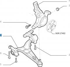 Linker schommelarm voor Fiat Professional Scudo