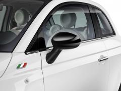 Spiegelkappen glanzend zwart voor Fiat 500