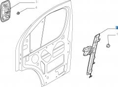 Elektrische raamopener linksvoor voor Fiat Professional Ducato
