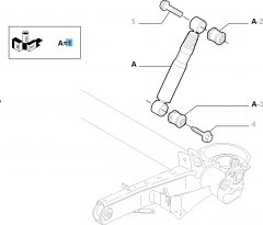 Achterste schokdemper 2 stuks voor Fiat Professional Scudo