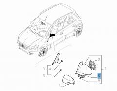 Zijdelingse richtingaanwijzer voor Fiat Sedici