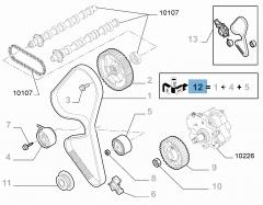 Distributiekit (riem, vaste en verstelbare riemspanner) - 3 stuks voor Fiat Professional Scudo
