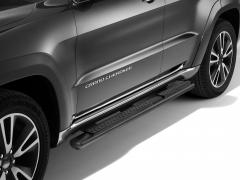 Zwarte klaptreden, opstaptreden aan de zijkant onder portier voor Jeep Grand Cherokee