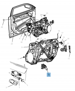 Voorste raamopener voor Lancia Thema