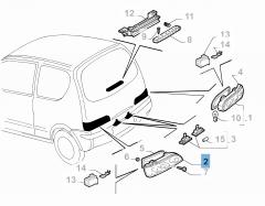 Linker achterlicht voor Fiat en Fiat Professional