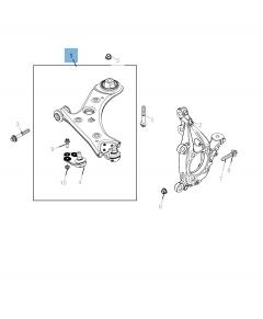 Schommelarm voor ophanging onder voor Jeep Compass